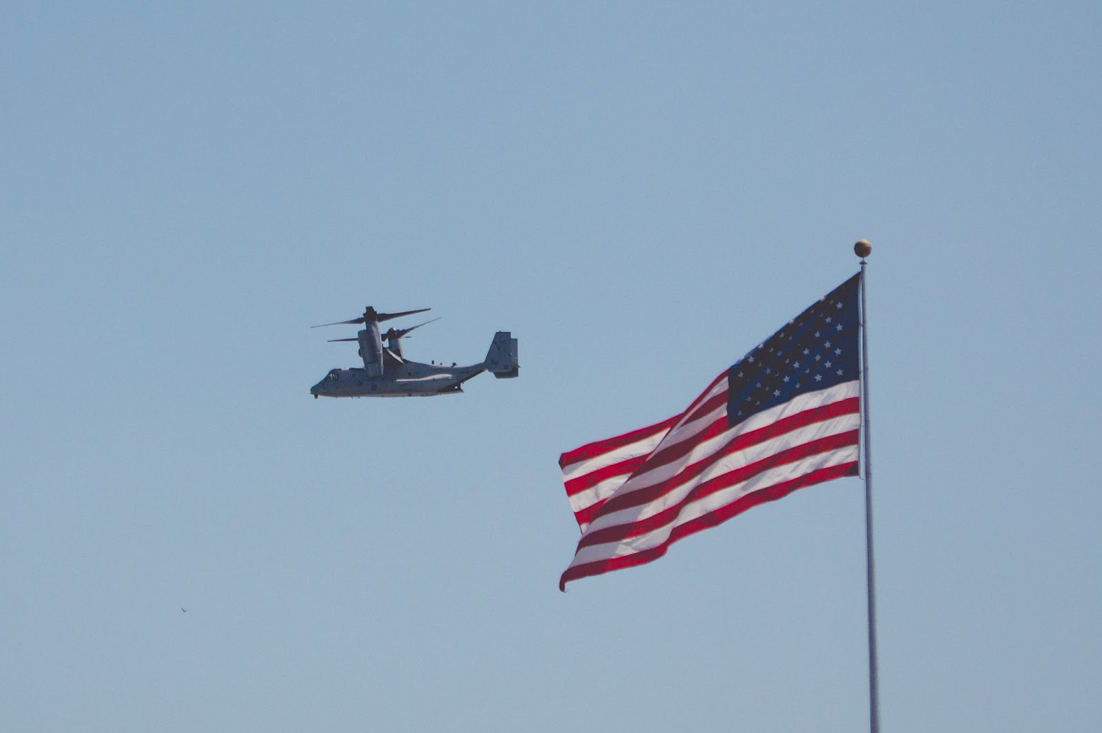 osprey, v-22, fleet week, nyc, new york city, american flag, new york
