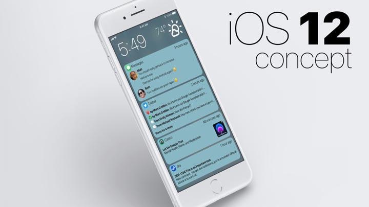 Tampilan Pemberitahuan di iOS 12