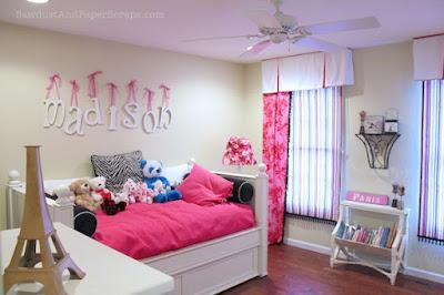 dekorasi kamar tidur anak gadis remaja warna pink