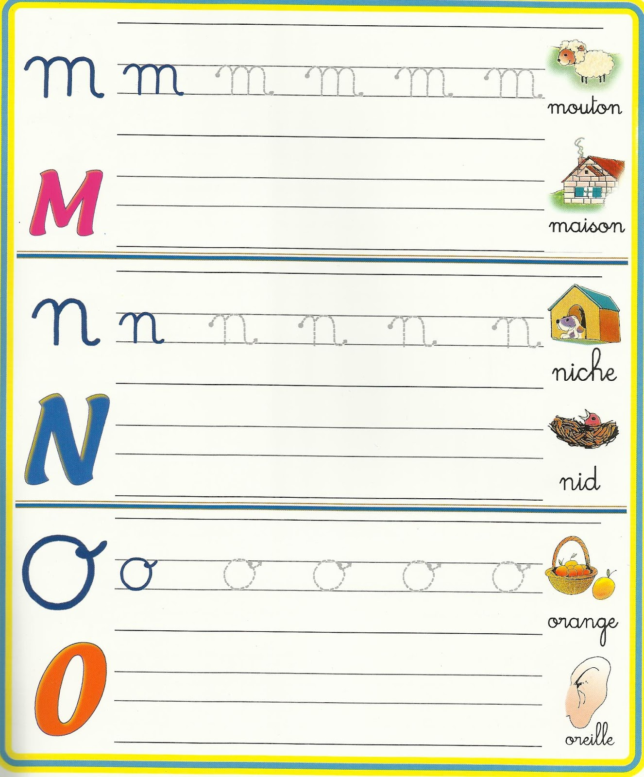 Family Crafts And Recipes Ecrire Les Lettres Minuscules