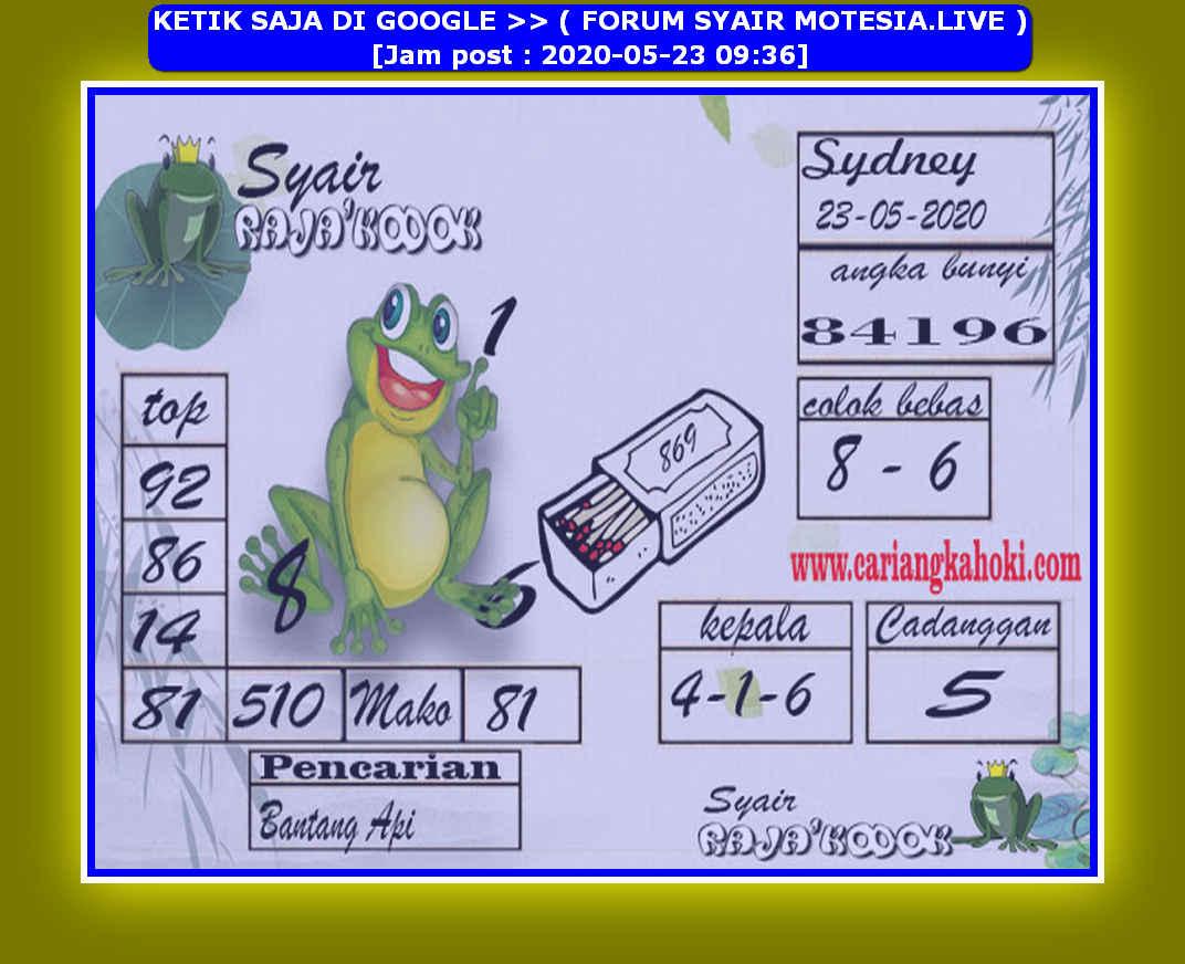 Kode syair Sydney Sabtu 23 Mei 2020 159