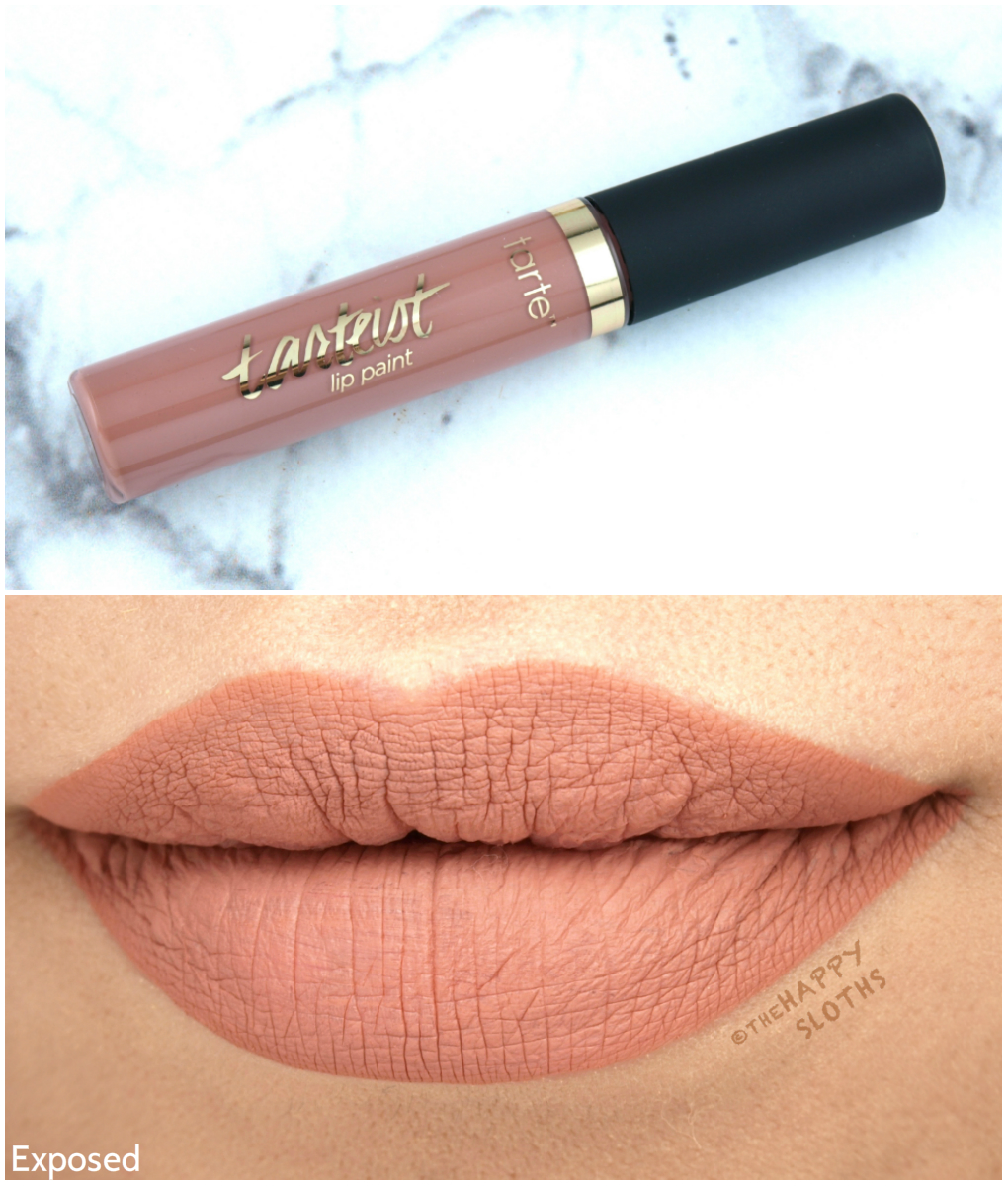 """Tarte Tarteist Quick Dry Lip Paint in """"Exposed"""": Review and Swatches"""