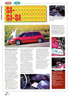 image of Mobile Sound Competition's Annual '96 Winners edition page 78 covering Dustin Culton's 1990 Honda Civic