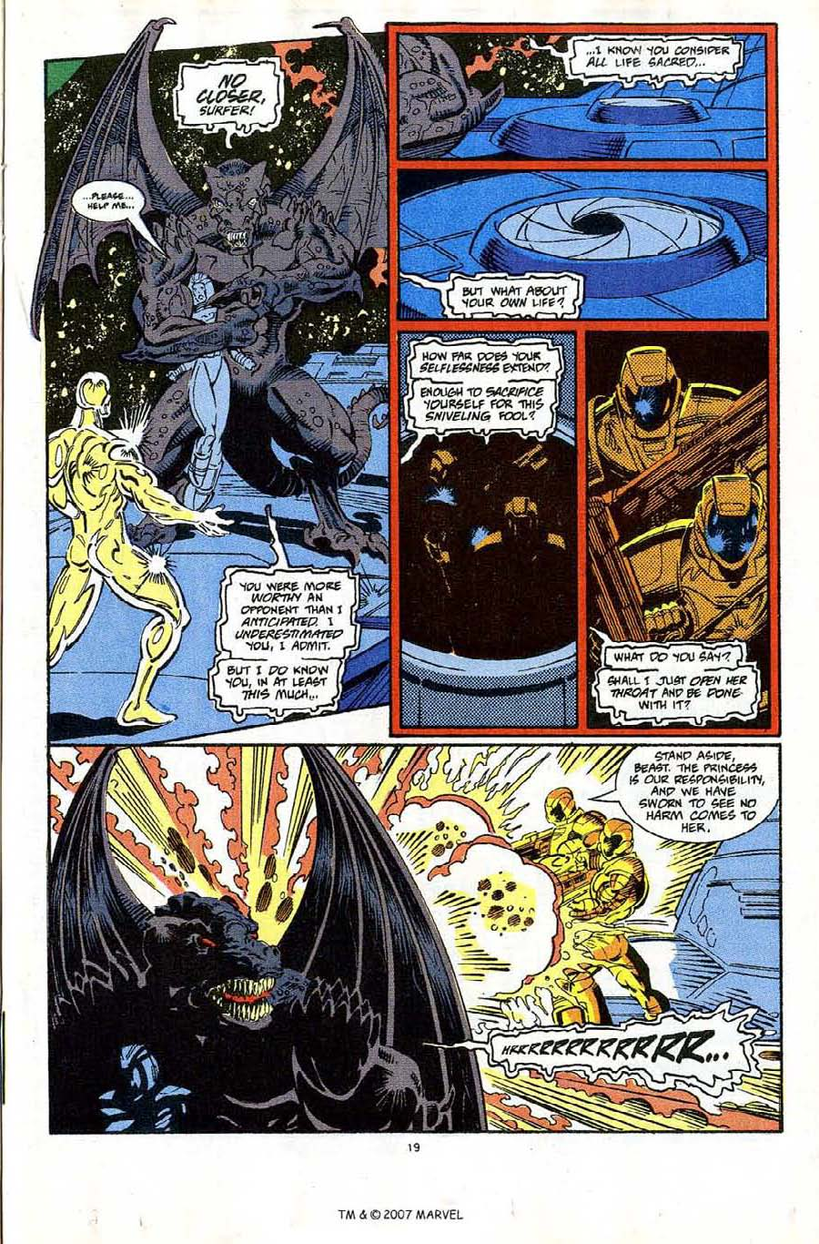 Read online Silver Surfer (1987) comic -  Issue #65 - 21