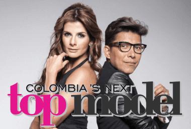 Carolina Cruz y Franklin Ramos en Colombia's Next Top Model