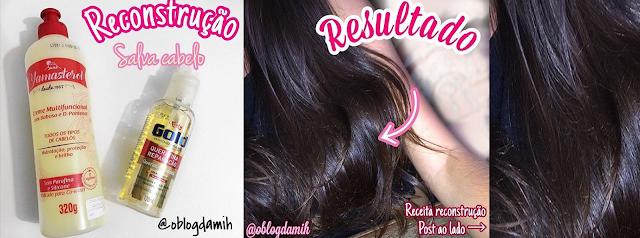 Reconstrução salva cabelo - super fácil
