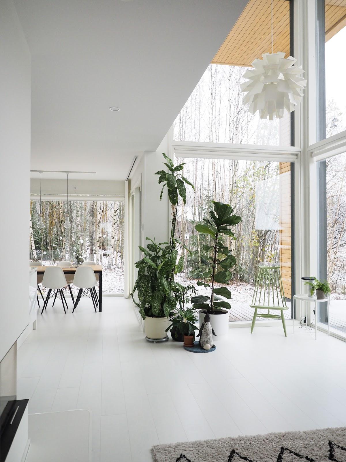 ensilumi, sisustus, valkoinen koti