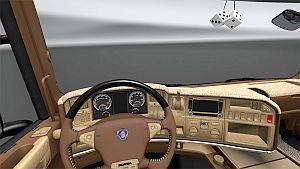 Scania RJL Brown Interior skin