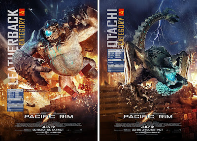 Leatherback and Otachi are two of the many Kaijus in Guillermo del Toro's Pacific Rim (2013)