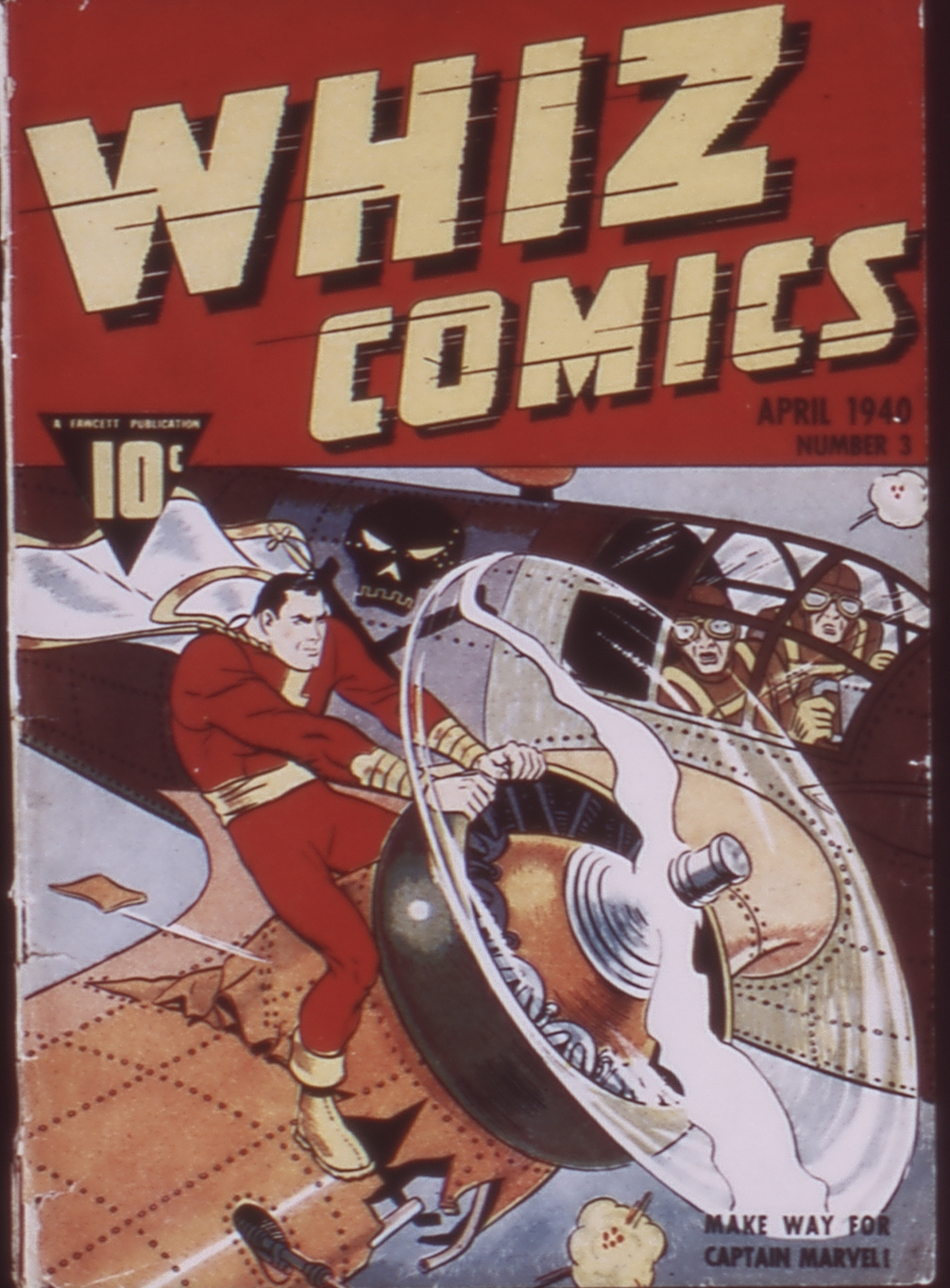 WHIZ Comics issue 3-April_1940 - Page 1