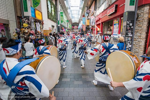 高円寺パル商店街、いろは連の鳴り物の写真 3
