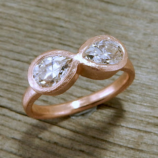 moissanite rose gold infinity ring