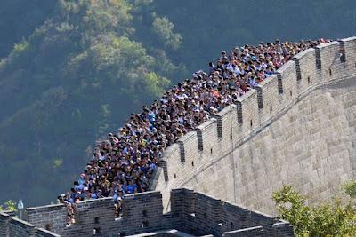 Maraton en china sobre la gran muralla