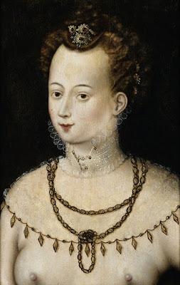 Школа Фонтенбло, 1580 - Портрет молодой дамы (аллегория красоты)