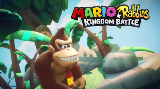 Mario + Rabbids Kingdom Battle Donkey Kong DLC toothy grin Nintendo Switch