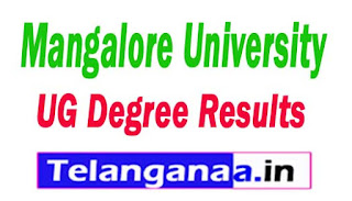 Mangalore University (MU) UG Degree Results 2017