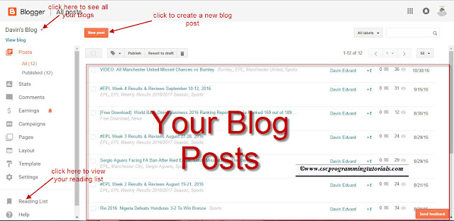 How to use the new blogger dashboard