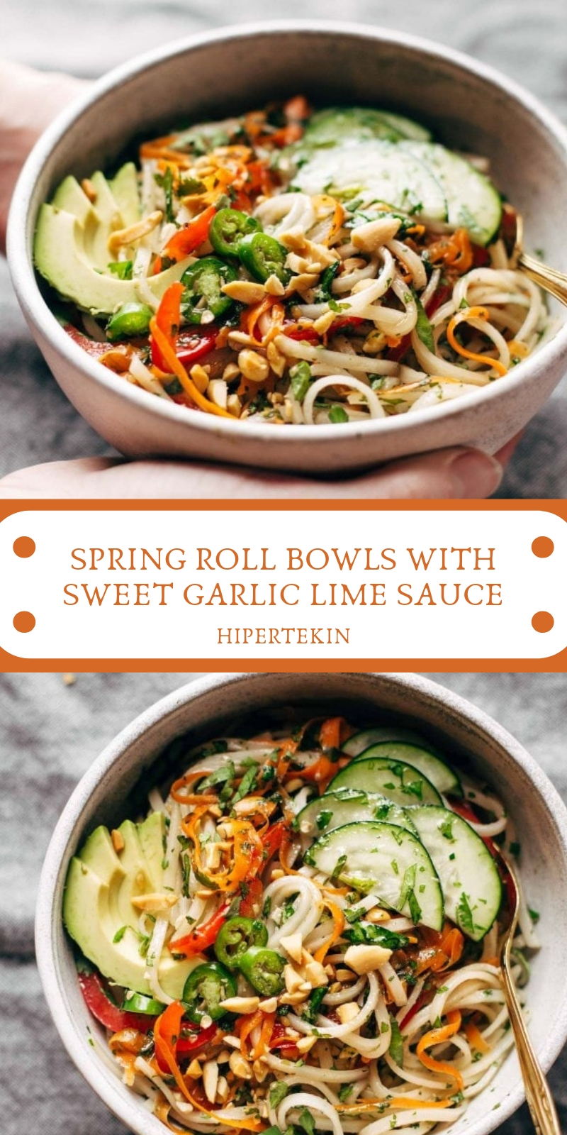 Spring Roll Bowls With Garlic Lime Sauce