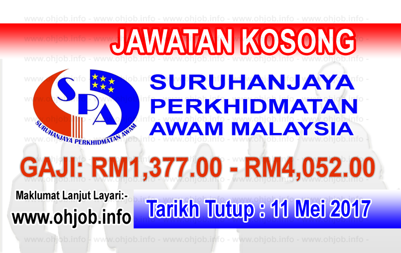 Jawatan Kerja Kosong SPA8i - Suruhanjaya Perkhidmatan Awam Malaysia logo www.ohjob.info mei 2017