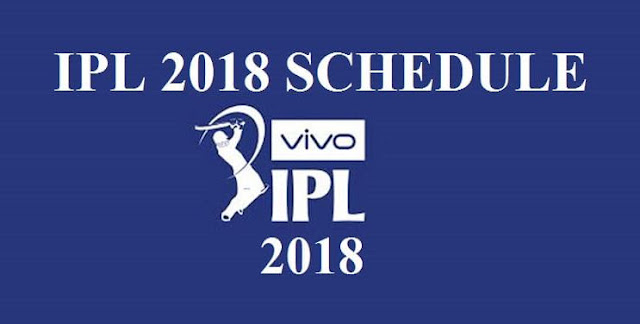 VIVO IPL 2018 Schedule, Time Table Full PDF Download