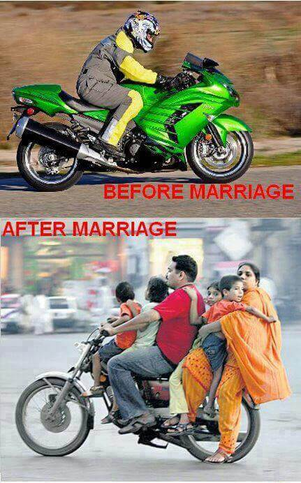 16 Funny Pictures Of The Startling Differences Between Single And Married Life - Earlier ride away, now ride along!