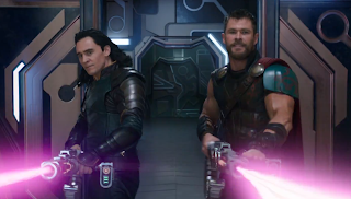 Thor and loki in thor ragnarok, avengers 4