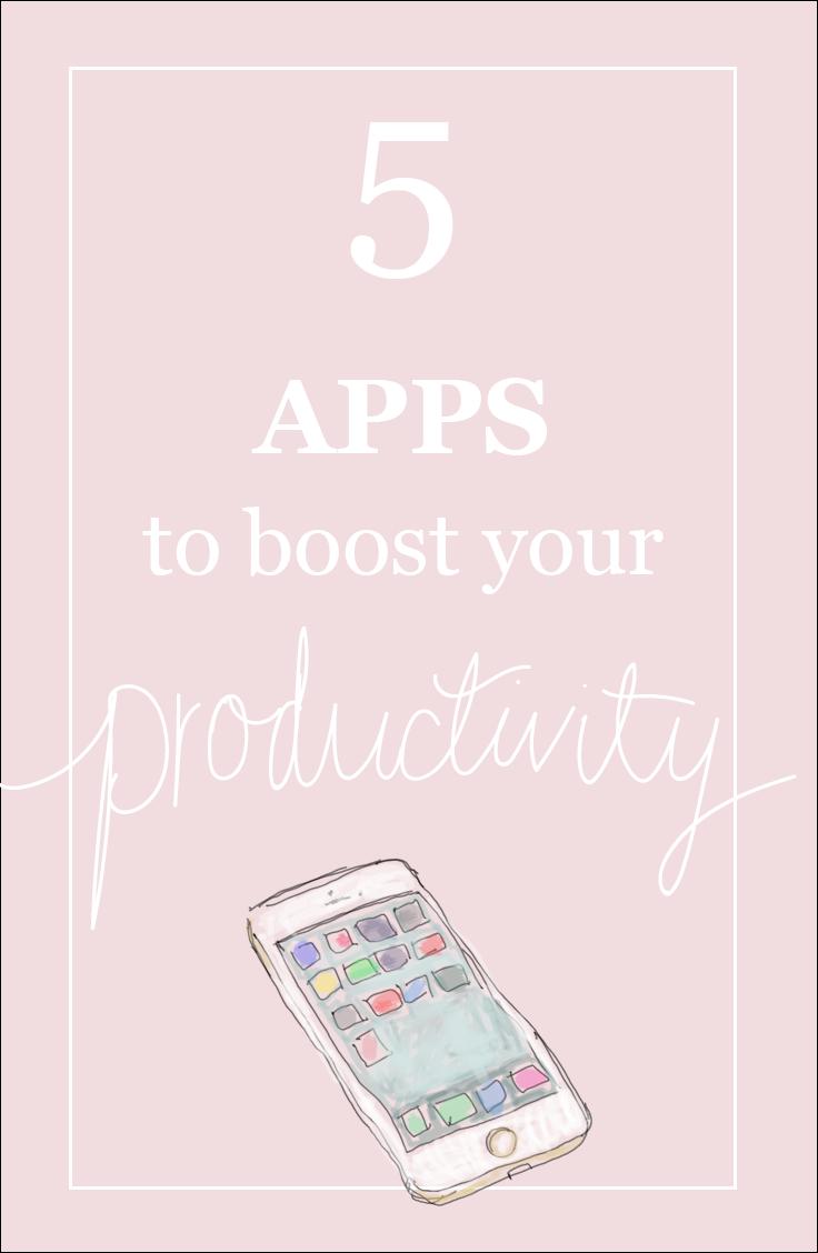5 apps to boost your productivity | hannahemilylane.blogspot.com