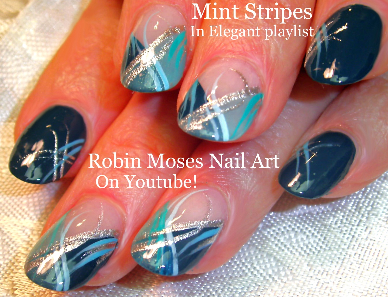 Nail Art by Robin Moses: Red Nails with Black and Gold Stripes! Fall ...