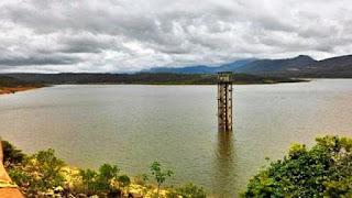 Volume de água na barragem