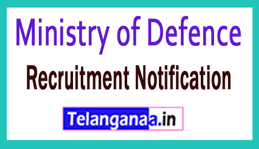 Ministry of Defence Recruitment Notification