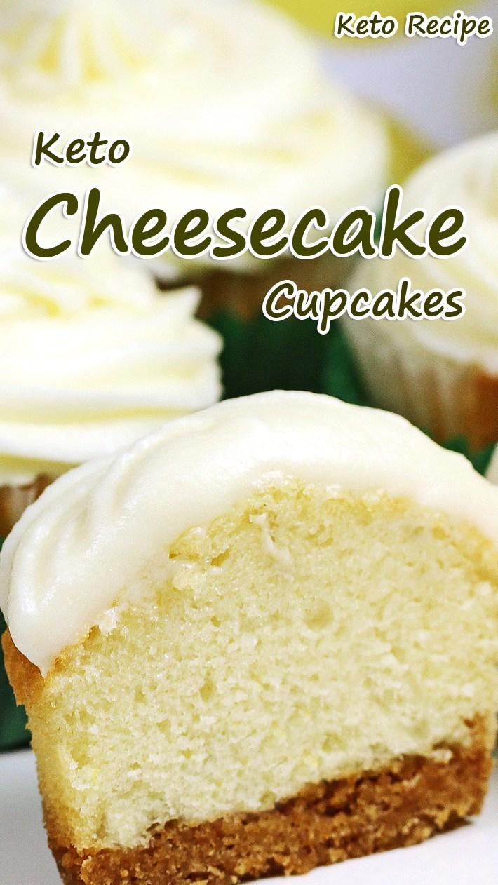 Keto Cheesecake Cupcakes #dessert #keto #cheesecake #cupcake #glutenfree #lowcarb