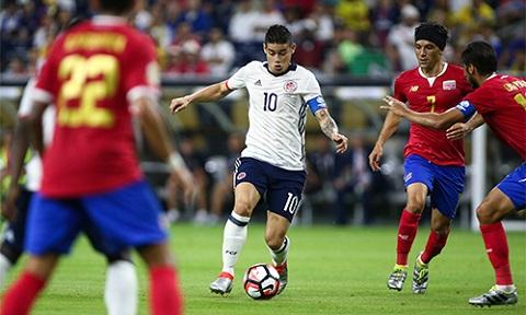 Copa America 2016 được James tận dụng triệt để