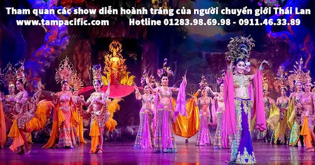 Tham quan các show diễn hoành tráng của người chuyển giới Thái Lan