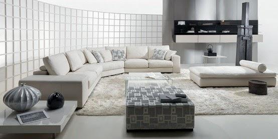 Desain Ruang Keluarga Minimalis Nuansa Hitam Putih Rumah Minimalis
