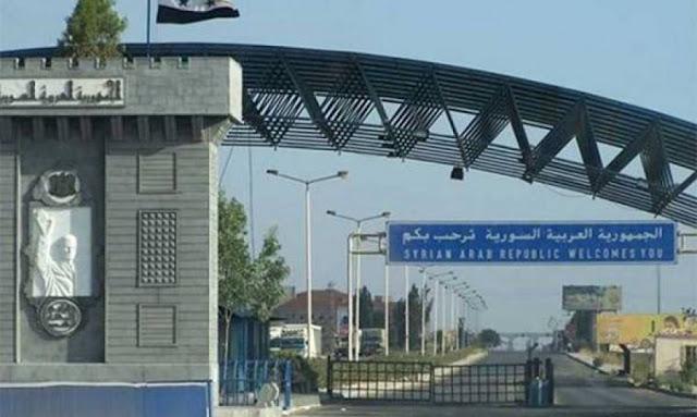 افتتاح معبر جابر- نصيب الحدودي بين سورية و الأردن