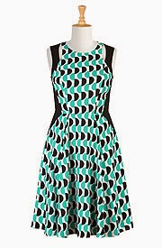 eShakti Half Circle Crepe Dress