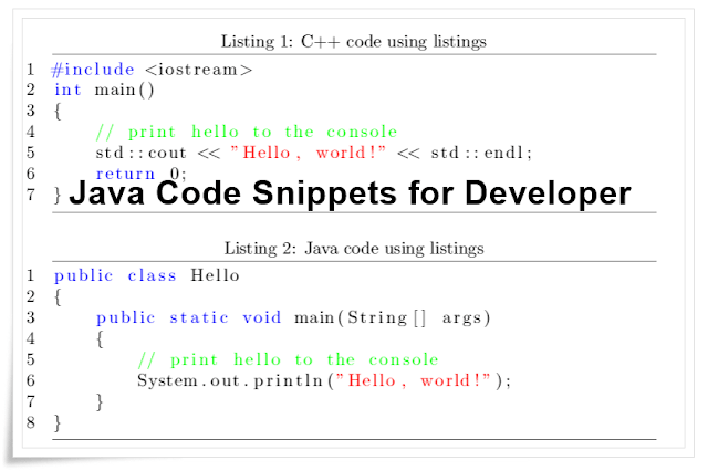 top 10 java code snippets