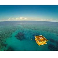 Underwaterroom la maison flottante avec vue sous l'eau.