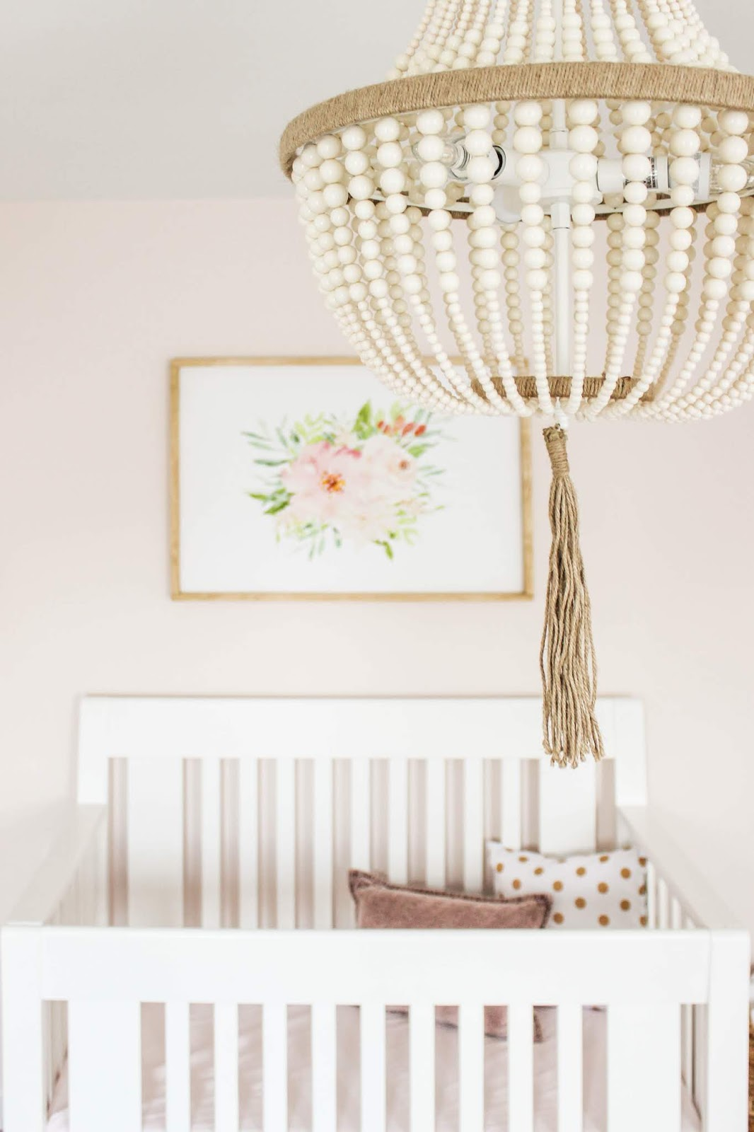 blush pink nursery wall decor