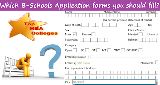 which MBA Colleges Application forms to fill