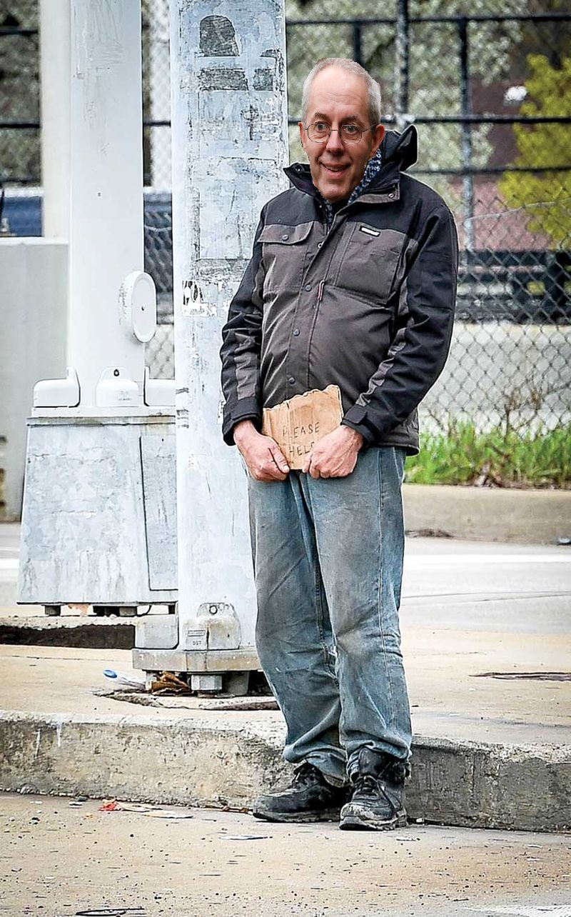 Lone star parson archbishop of canterbury panhandling in for Motor city pawn brokers detroit mi