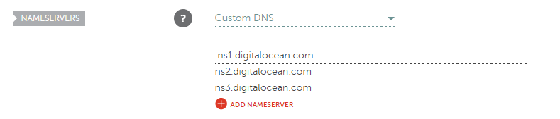 nameserver list digitalocean