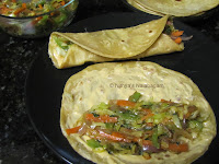 Vegetable Chapati roll 16