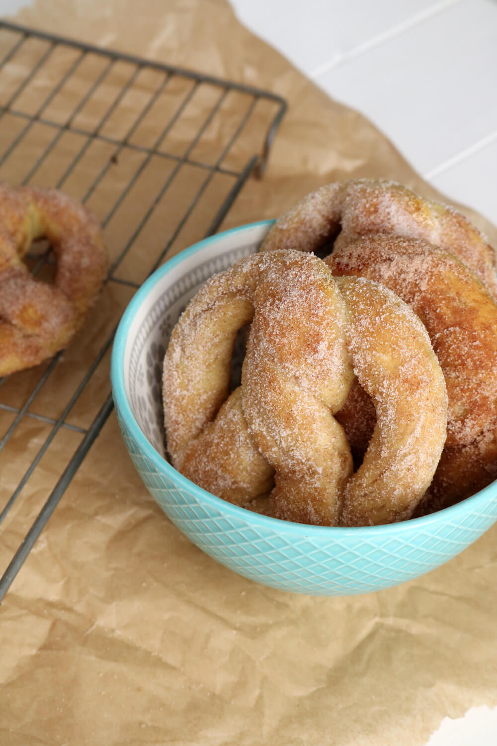 Soft Cinnamon Pretzels | Hungry Little Bear