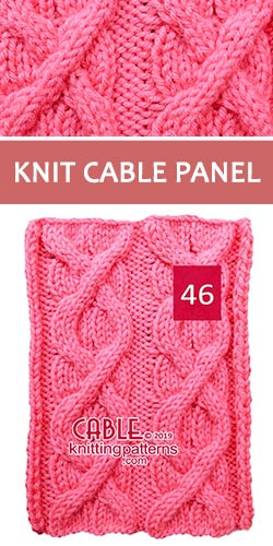 Knit Cable Panel Pattern 46, its FREE
