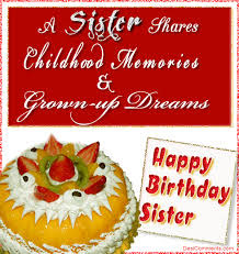 birthday wishes for a sister with cake quotes