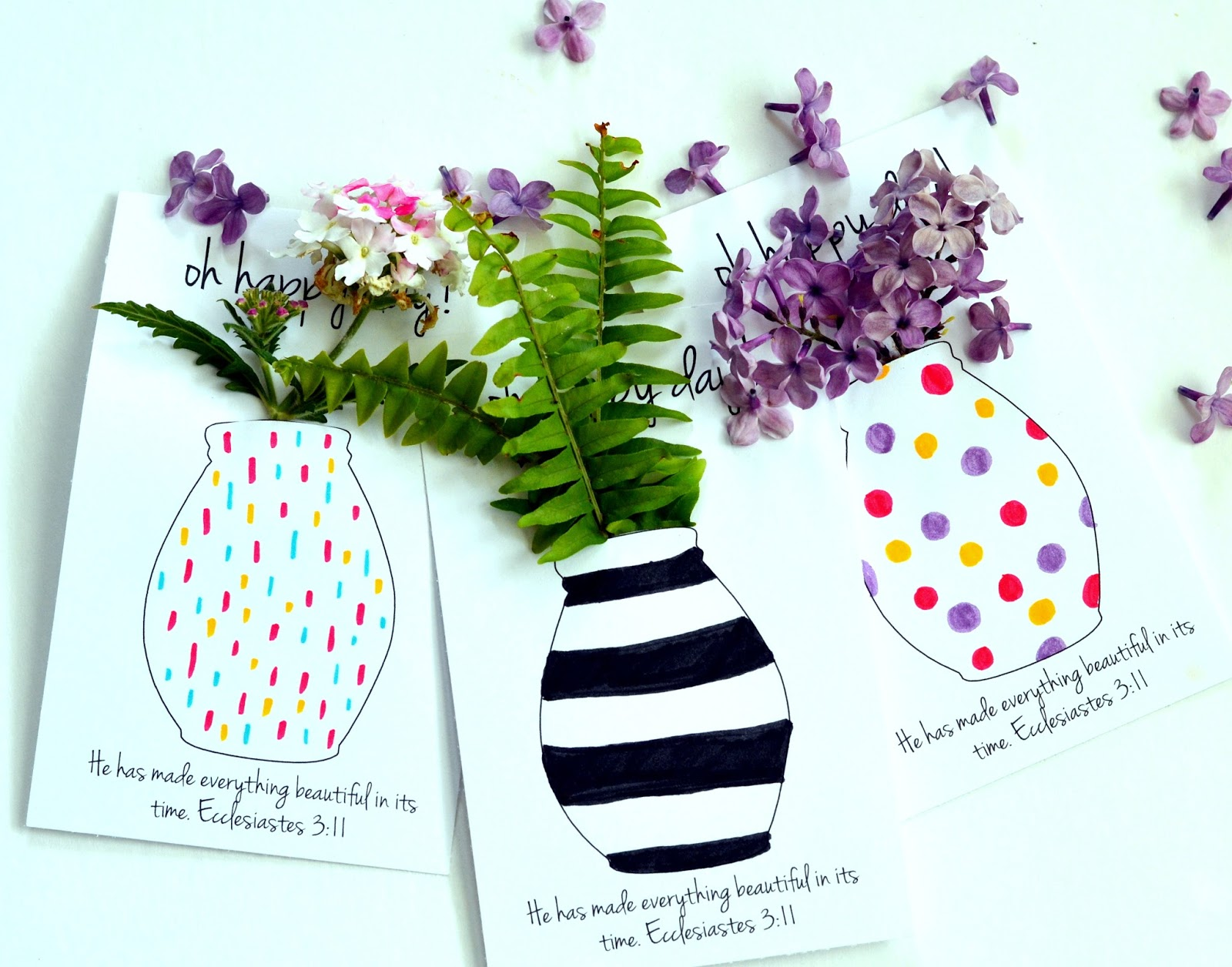 Free Printable Flower Vases That You Can Color For May Day Or