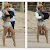 The 25 year old singer  Rita Ora flashes her nipples during beach shoot