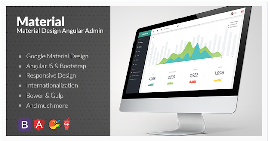 Top 10 Material Design Admin Templates With AngularJS