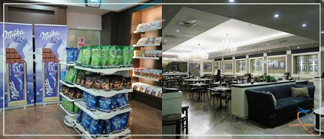 Sexto andar da Monalisa: chocolates e restaurante